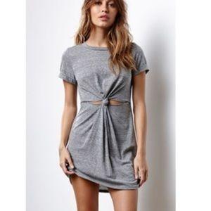 Grey Knot Midi Dress
